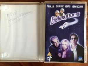 My signed Alan Rickman Galaxy Quest DVD