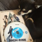 Chihuahua with the book and film High-Rise collection