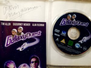 Alan Rickman signed copy of Galaxy Quest DVD