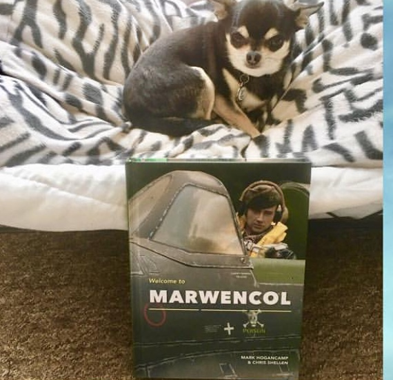 Chihuahua with Marwencol book