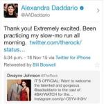 Alexandra Daddario tweet screen shot