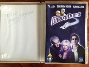 My signed Alan Rickman Galaxy Quest DVD