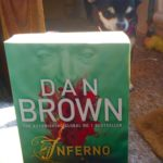 Chihuahua with Dan Brown's Inferno