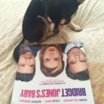 Chihuahua with poster for Bridget Jones Baby