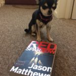 Chihuahua with Red Sparrow book