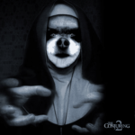 Chihuahua as The Nun in Conjuring 2