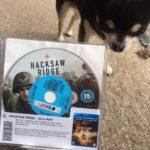 Chihuahua with Hacksaw Ridge on BluRay