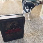 Chihuahua with Blade Runner DVD